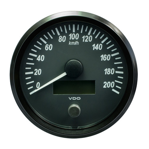 "VDO SingleViu 100mm (4"") Speedometer - 140 MPH [A2C3832850030]"