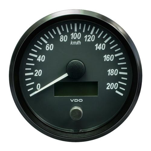 "VDO SingleViu 100mm (4"") Speedometer - 200 KM\/H [A2C3832840030]"