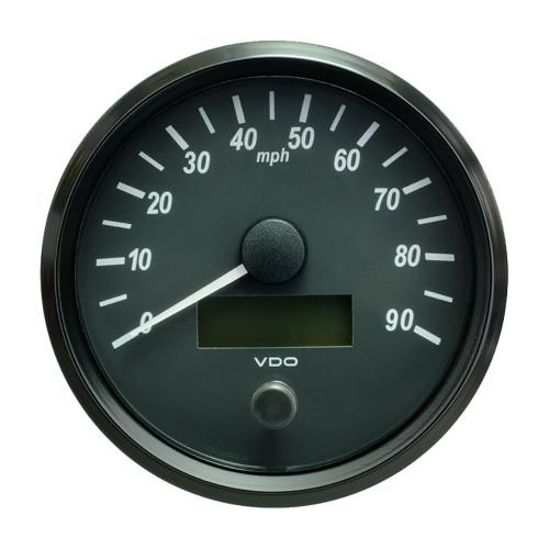 "VDO SingleViu 100mm (4"") Speedometer - 90 MPH [A2C3832870030]"