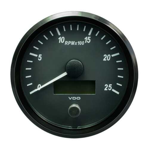"VDO SingleViu 100mm (4"") Tachometer - 2500 RPM [A2C3832820030]"