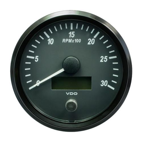 "VDO SingleViu 100mm (4"") Tachometer - 3000 RPM [A2C3832810030]"