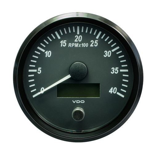"VDO SingleViu 100mm (4"") Tachometer - 4000 RPM [A2C3832800030]"