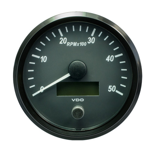 "VDO SingleViu 100mm (4"") Tachometer - 5000 RPM [A2C3832790030]"