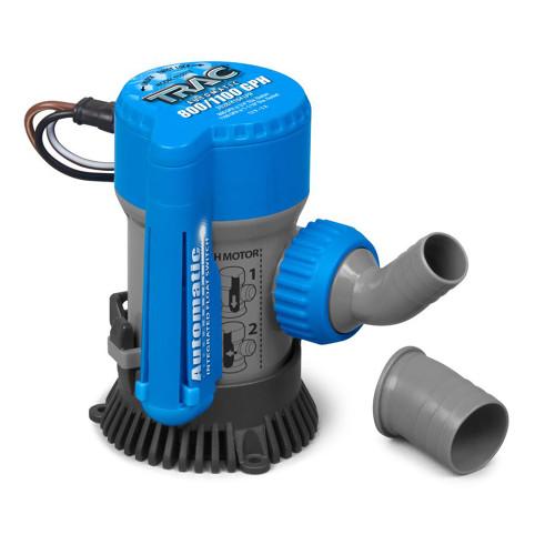 """TRAC Bilge Pump - Automatic - 800\/1100GPH - 3\/4""""  1-1\/8"""" Outlets [69311]"""