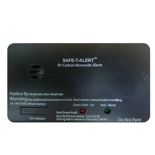 Safe-T-Alert SA-340 Black RV Battery Powered CO2 Detector - Rectangle [SA-340-BL]