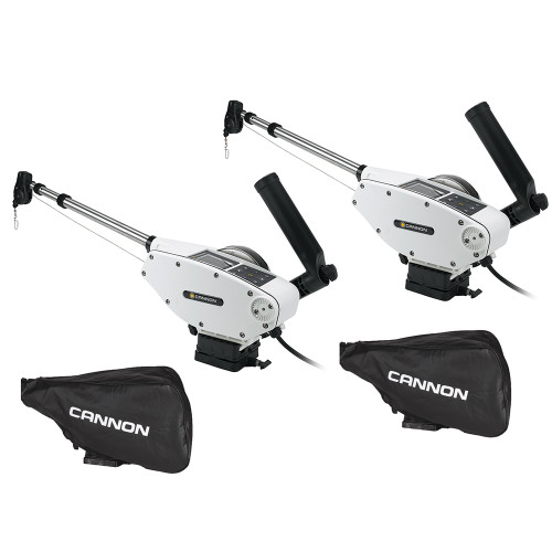 Cannon Optimum 10 Tournament Series (TS) BT Electric Downrigger 2-Pack w\/Black Covers [1902340X2\/COVERS]