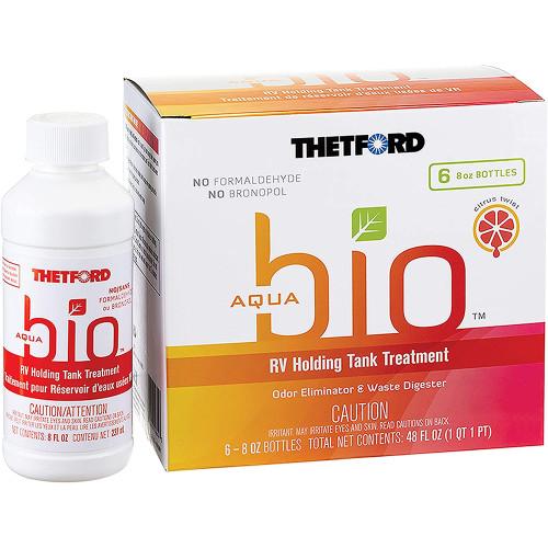 Thetford AquaBio RV Holding Tank Treatment - Citrus Twist Scent - 6-Pack of 8oz Bottles [96604]