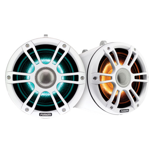 "FUSION SG-FLT772SPW 7.7"" Wake Tower Speakers w\/CRGBW LED Lighting - White [010-02439-01]"