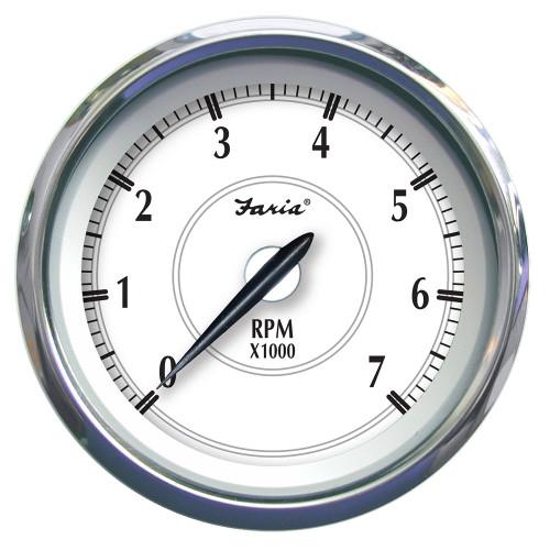 """Faria Newport SS 4"""" Tachometer f\/Gas Outboard - 7000 RPM [45003]"""