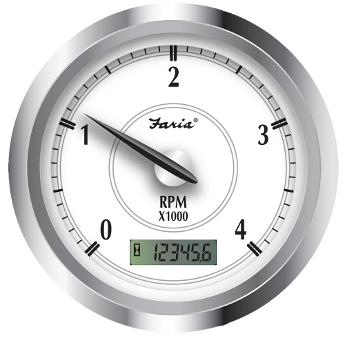 "Faria Newport SS 4"" Tachometer w\/Hourmeter f\/Diesel w\/Magnetic Pick-Up - 4000 RPM [45006]"