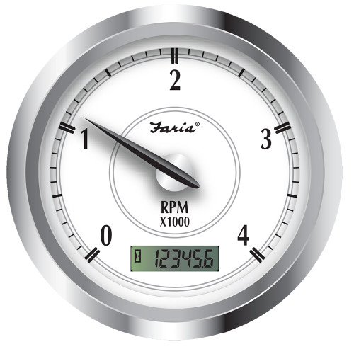 "Faria Newport SS 4"" Tachometer w\/Hourmeter f\/Diesel w\/Magnetic Take Off - 4000 RPM [45007]"