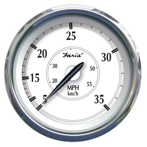 """Faria Newport SS 4"""" Speedometer - 0 to 35 MPH [45008]"""