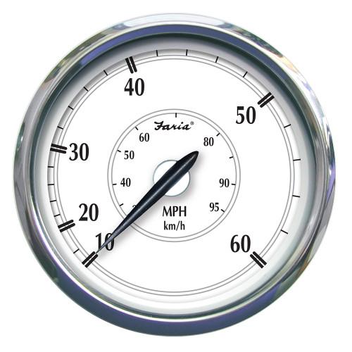 """Faria Newport SS 5"""" Speedometer - 0 to 60 MPH [45009]"""