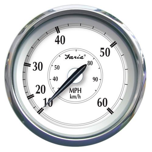 """Faria Newport SS 4"""" Speedometer - 0 to 60 MPH [45010]"""