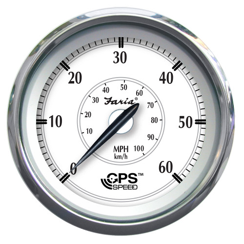 "Faria Newport SS 4"" GPS Speedometer - 0 to 60 MPH [45011]"