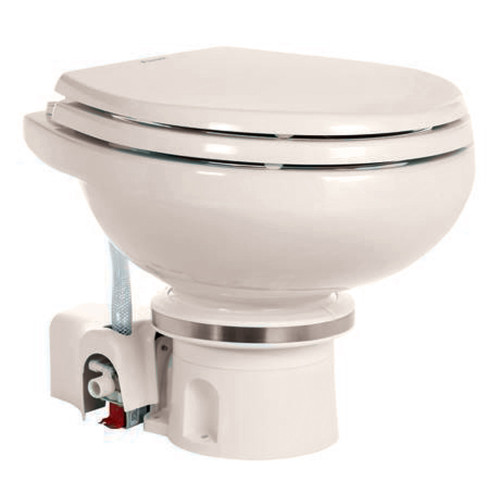 Dometic MasterFlush 7120 Bone Electric Macerating Toilet w\/Orbit Base - Fresh Water [9108834576]