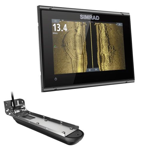 Simrad GO7 XSR Chartplotter\/Fishfinder w\/Active Imaging 3-in-1 Transom Mount Transducer  C-MAP Discover Chart [000-14838-002]