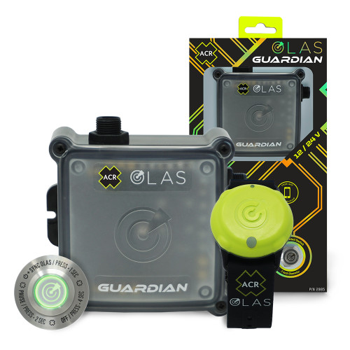 ACR OLAS GUARDIAN Wireless Engine Kill Switch  Man Overboard (MOB) Alarm System [2985]