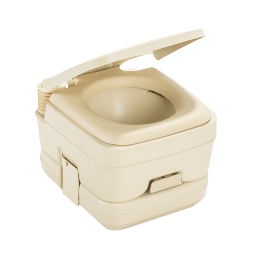 Dometic 964 Portable Toilet w\/Mounting Brackets - 2.5 Gallon - Parchment [311096402]