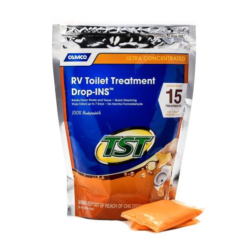 Camco TST Orange RV Toilet Treatment Drop-Ins *15-Pack [41189]