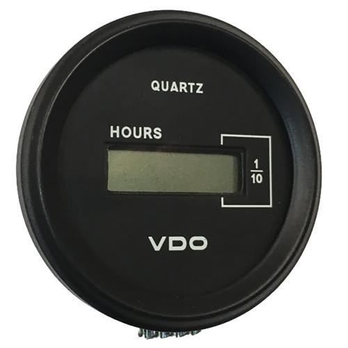 """VDO Cockpit Marine 52mm (2-1\/16"""") LCD Hourmeter - Black Dial\/Chrome Bezel [331-546]"""