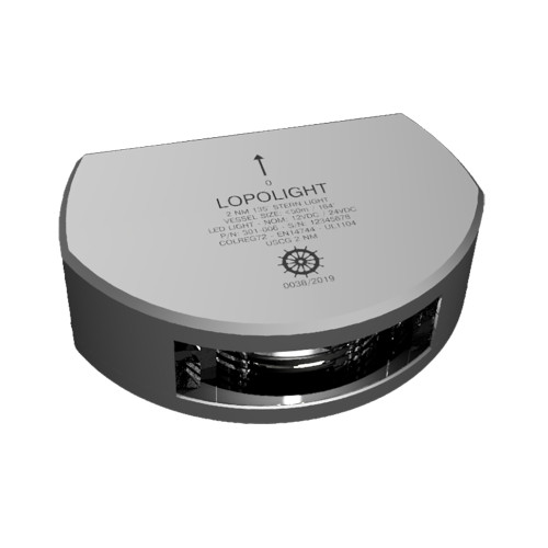 Lopolight 135 Stern Light w\/6M Cable - 2nm - Silver Housing - Single - Vertical Mount [301-006-6M]
