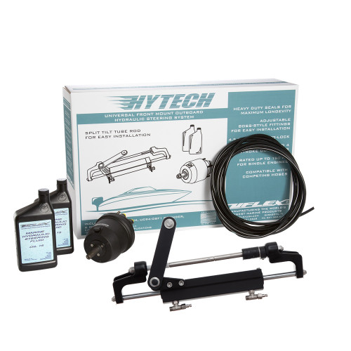 Uflex HYTECH 1.1 Front Mount OB System up to 175HP - Includes UP20 FM Helm, 2qts of Oil, UC95-OBF Cylinder  40 Tubing [HYTECH 1.1]
