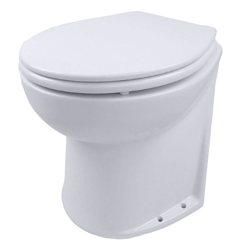 Jabsco Deluxe Flush Electric Raw Water Toilet w\/Angled Back - 24V [58220-1024]