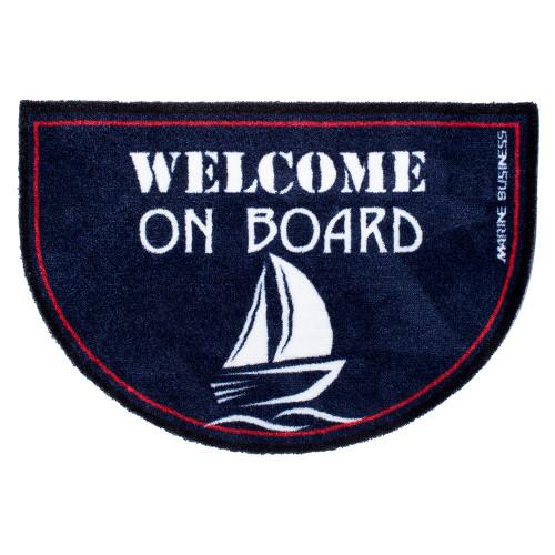 Marine Business Non-Slip WELCOME ON BOARD Half-Moon-Shaped Mat - REGATA [41262]