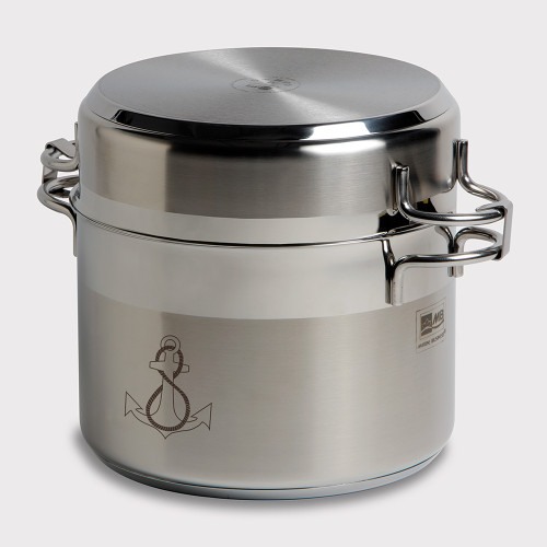 Marine Business Kitchen Cookware Pan Set Self-Containing - Stainless Steel - Set of 8 [20001]