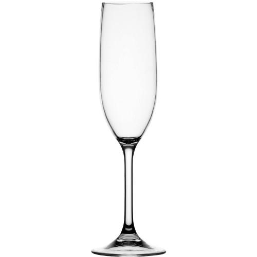 Marine Business Non-Slip Flute Glass Party - CLEAR TRITAN - Set of 6 [28105C]