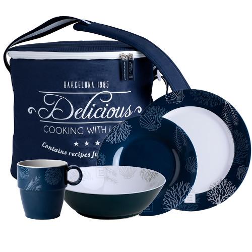 Marine Business Melamine Tableware  Basket - LIVING - Set of 16 [18147]