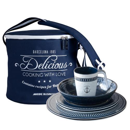 Marine Business Melamine Tableware  Basket - SAILOR SOUL - Set of 16 [14147]