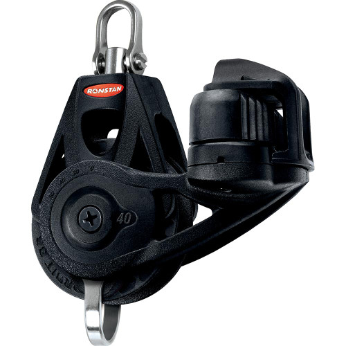 Ronstan Series 40 Ball Bearing Orbit Block - Single - Becket - Cleat - Swivel Head [RF45130]