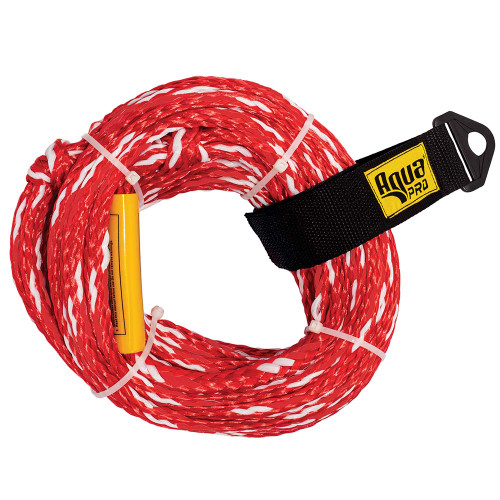 Aqua Leisure 2-Person Tow Rope - 2,375lbs Tensile - Non-Floating - Red [APA20450]