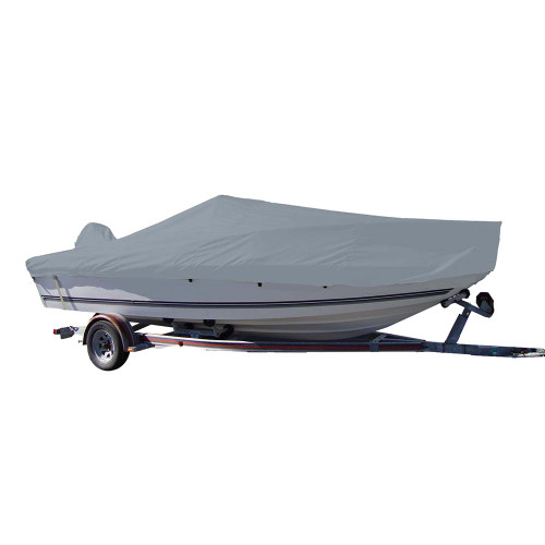 Carver Sun-DURA Styled-to-Fit Boat Cover f\/19.5 V-Hull Center Console Fishing Boat - Grey [70019S-11]