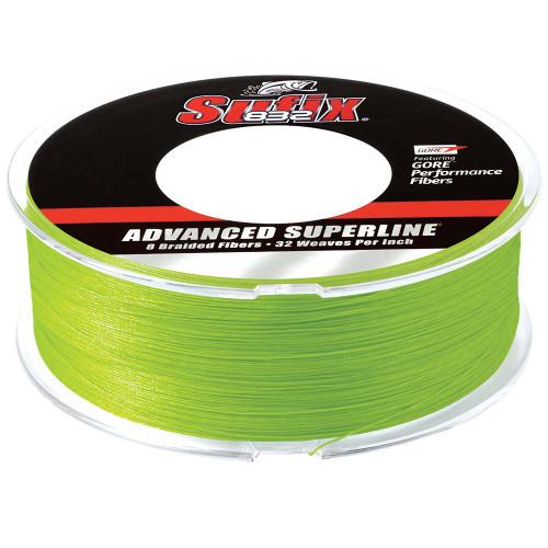 Sufix 832 Advanced Superline Braid - 10lb - Neon Lime - 600 yds [660-210L]
