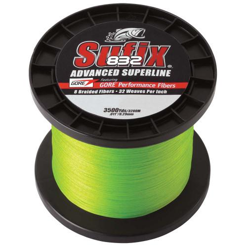 Sufix 832 Advanced Superline Braid - 10lb - Neon Green - 3500 yds [660-410L]