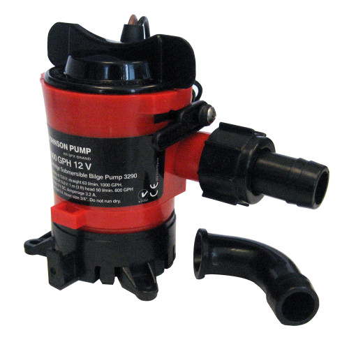 "Johnson Pump 1000 GPH Bilge Pump 3\/4"" 12V Dura Ports [32903]"