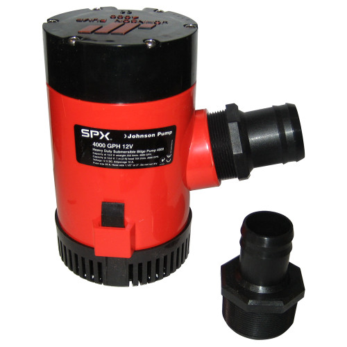 "Johnson Pump 4000 GPH Bilge Pump 1-1\/2"" Discharge Port 12V [40004]"