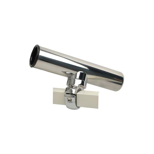 C.E. Smith Pontoon Square Rail Adjustable Clamp-On Rod Holder [55108A]