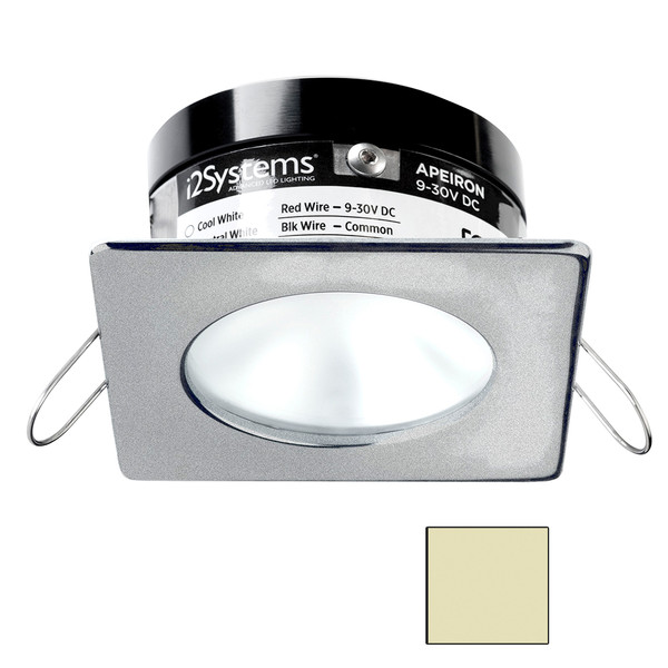 i2Systems Apeiron PRO A503 - 3W Spring Mount Light - Square\/Round - Warm White - Brushed Nickel Finish [A503-42CBBR]