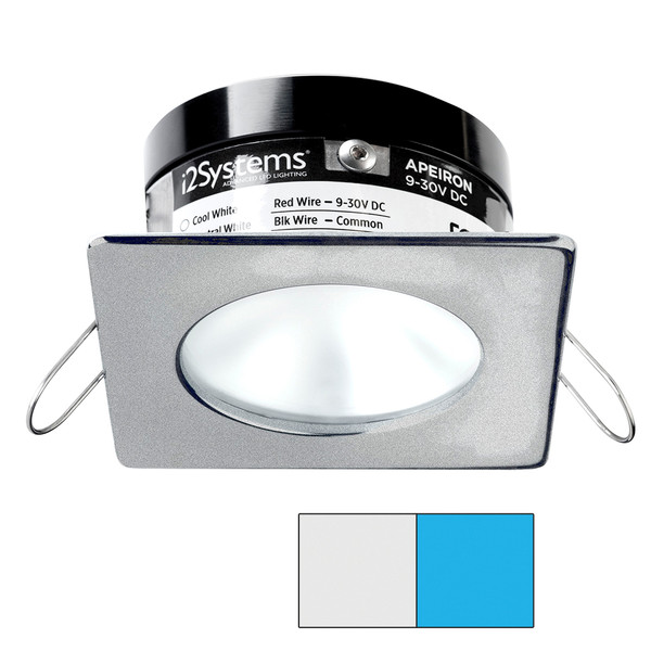 i2Systems Apeiron PRO A503 - 3W Spring Mount Light - Square\/Round - Cool White  Blue - Brushed Nickel Finish [A503-42AAG-E]