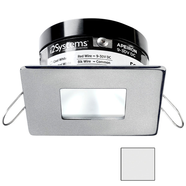 i2Systems Apeiron PRO A503 - 3W Spring Mount Light - Square\/Square - Cool White - Brushed Nickel Finish [A503-44AAG]
