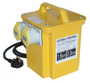 Carroll & Meynell, 3kVA CM3000 Safety Site Transformer 110V / 2 x 16A