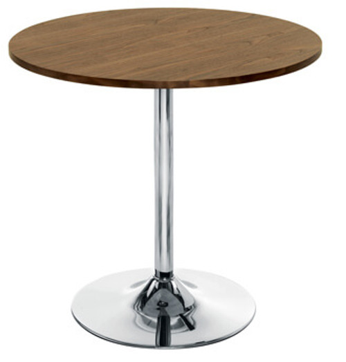 Ellipse Cafe Table With Chrome Trumpet Base