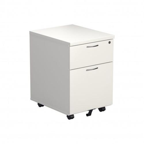 2 Drawer Mobile Under Desk Mobile Pedestal