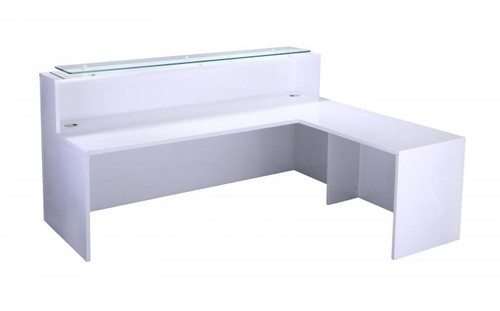 White Gloss Reception Counter