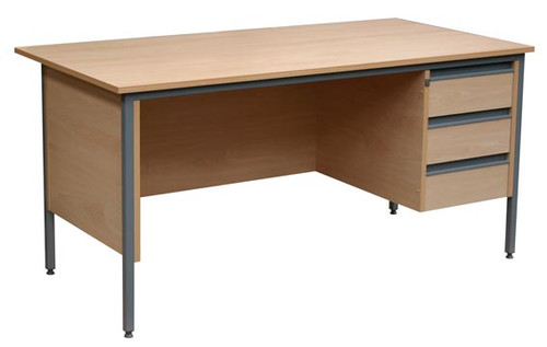 Traditional Single Pedestal Desk