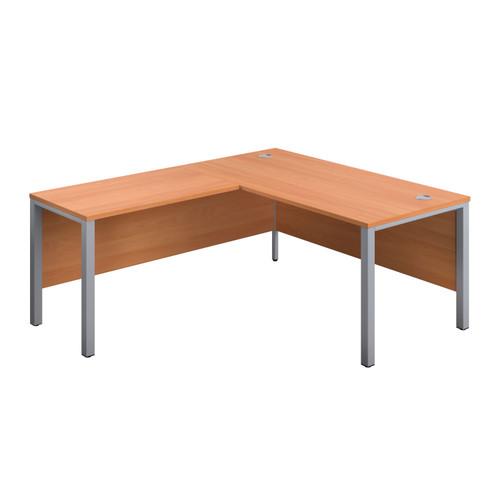 Sorrento Goal-Post Rectangular Desk with Return